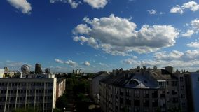 Clouds over Zagreb city stock video footage