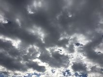 Clouds 046. Overcast sky silver Royalty Free Stock Photography