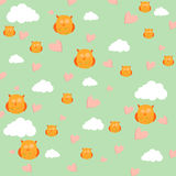Clouds and owl Royalty Free Stock Images