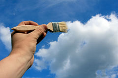 Clouds painter Royalty Free Stock Images