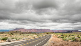Clouds, Paiute Reservation, Old Highway 91, NV Stock Photo