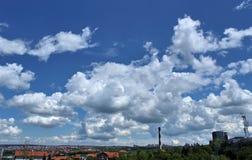clouds panorama Royaltyfri Fotografi