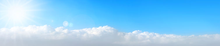 Clouds panorama Stock Photography