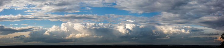 Clouds panorama. Big clouds in the sky Stock Image