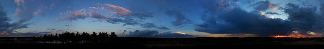 Clouds panorama. Panorama of the rainy clouds Royalty Free Stock Photos
