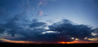 Clouds panorama. Panorama of the rainy clouds Stock Image