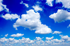 Clouds. Paoramic view with clouds on a blue sky background Stock Photography