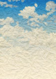 Clouds on  paper Stock Photos