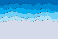 Clouds paper cut Royalty Free Stock Images