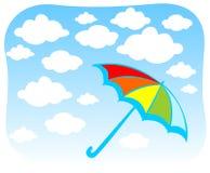 clouds paraplyet Arkivfoton