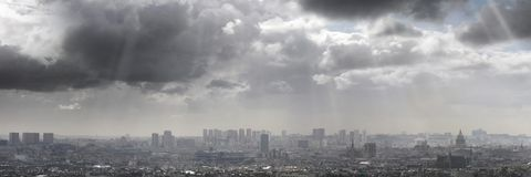 Clouds on Paris stock photo