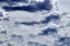 The clouds part in the sky . royalty free stock images