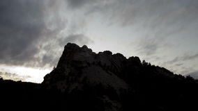Clouds pass over mount rushmore stock footage