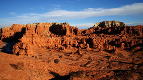 Clouds pass slowly in goblin valley. Video of clouds pass slowly in goblin valley stock video