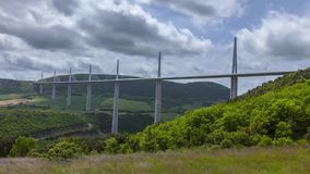 Clouds Passing Over the Viaduc MIllau stock video