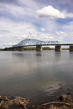 Clouds Past Pioneer Memorial Bridge Columbia River Kennewick Was Stock Photography