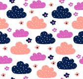 Clouds pattern design Stock Photo