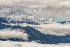 Clouds in the Andes Royalty Free Stock Photo