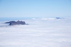 Clouds and peaks at La Palma Stock Photography
