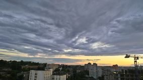 Clouds. Photo taken in Kiev - Ukraine 07/09/2017 Royalty Free Stock Photo
