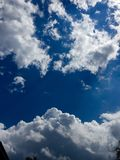 Clouds. Photograph of clouds in the sky Royalty Free Stock Photo