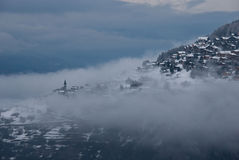 In the clouds. This is a picture of Veysonnaz, in the canton of Valais after a snowfall Royalty Free Stock Photo