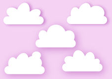 Clouds on Pink Sky Greeting Card Royalty Free Stock Photo