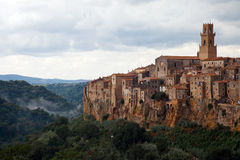Clouds on Pitigliano Royalty Free Stock Image