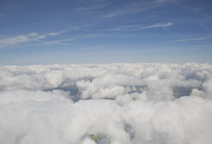 Clouds from the plain view Stock Photography