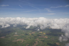 Clouds from the plain view Stock Image