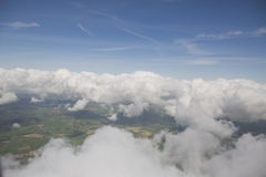 Clouds from the plain view Stock Photos