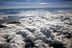 Clouds from plane Royalty Free Stock Photo