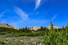 Clouds Pointing to Longs Peak Stock Photos