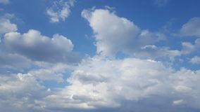 Clouds on a pretty day. stock photo
