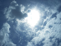 Sunny Sky Clouds Royalty Free Stock Photo