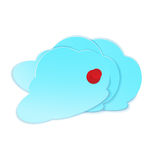 Clouds with pushpin vector Royalty Free Stock Image