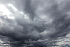 Clouds before the rain as a background.  stock images