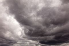 Clouds before the rain as a background.  stock image