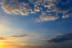 Clouds before the rain as a background.  royalty free stock photos