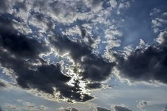 Clouds. The rain cloud, torn by the wind Royalty Free Stock Image