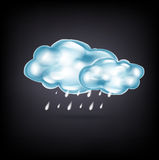Clouds with rain on dark. Background royalty free illustration