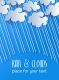 Clouds and rain Stock Images