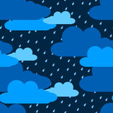 Clouds and rain seamless pattern Royalty Free Stock Images