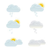 Clouds with rain, sun and snow Royalty Free Stock Photography