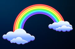 Clouds and rainbow Stock Photo
