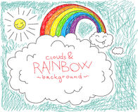 Clouds and rainbow background Stock Photography