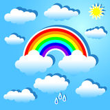 Clouds and rainbow Royalty Free Stock Photos