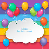Clouds and rainbow sky background Royalty Free Stock Photography