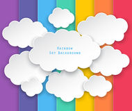 Clouds and rainbow sky background Royalty Free Stock Image