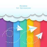 Clouds and rainbow sky background Stock Photography